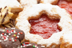 Cakes. Christmas cakes with chocolate, cookie and sugar Royalty Free Stock Photos