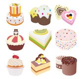 Cakes vector illustration