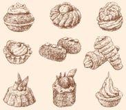 cakes royaltyfri illustrationer