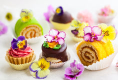 Cakes for afternoon tea Stock Image
