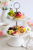 Cakes for afternoon tea Stock Photo