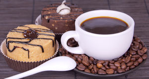 Free Cakes And Cup Of Coffee Stock Photo - 19625650