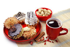 Cakes And Cup Of Coffee Royalty Free Stock Photography