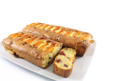 Cakes with apricots and cranberry Stock Image