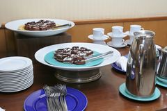 Cakes At Coffee Break Royalty Free Stock Image