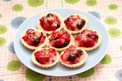Cakes with berries Royalty Free Stock Photography