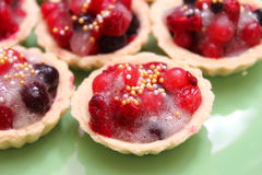 Cakes with berries Stock Photography