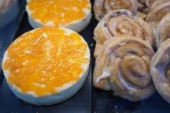 Cakes bij een bakkerij Royalty-vrije Stock Foto