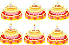 Cakes for birthday Royalty Free Stock Photos