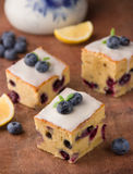 Cakes with blueberry Royalty Free Stock Images