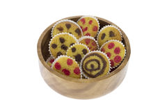 Cakes on a bowl Royalty Free Stock Photography