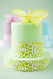 Cakes with butterflies Royalty Free Stock Photography