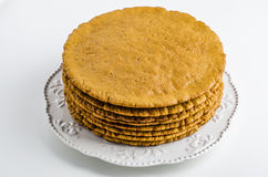 Cakes for the cake. On a beautiful plate Royalty Free Stock Photo