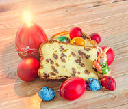 Cakes called Pasca made with cheese and raisins, traditional col Stock Image