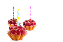 Cakes and candels Royalty Free Stock Image