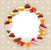 Cakes card Royalty Free Stock Photos