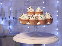 Cakes.Christmas card royalty free stock images