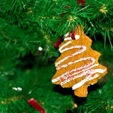 Cakes in the christmas tree Royalty Free Stock Image