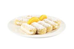 Cakes with coconut cream Stock Photo