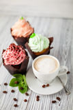 Cakes cofee mint Royalty Free Stock Photo