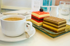 Cakes and coffee Royalty Free Stock Images