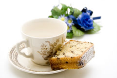 Cakes with coffee cup Royalty Free Stock Images