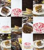 Cakes collage Stock Image