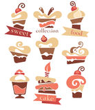 Cakes collection Royalty Free Stock Images