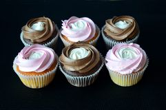 Cakes `Compliment` - pink and chocolate royalty free stock photography
