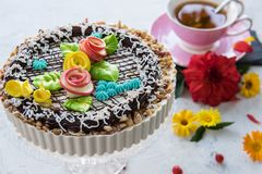 Tasty cakes composition Stock Photos
