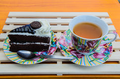 Cakes and Cookies. Cake dessert and tea Leisure Stock Image