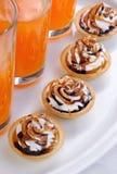 Cakes with cream Stock Photos