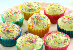 cakes cup iced Arkivbild