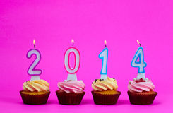 Cakes in 2014 a Royalty Free Stock Image