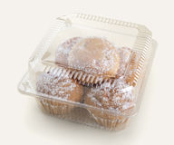 Cakes in de doos Stock Foto