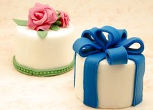 Cakes decorated Stock Photos