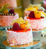Cakes decorated with berries Royalty Free Stock Image