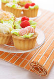 Cakes decorated royalty free stock image