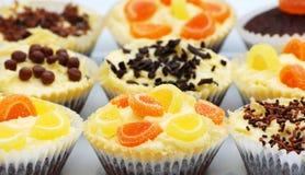 cakes dekorerad fe Arkivfoton