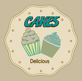 Cakes design Stock Image