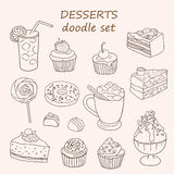 Cakes and dessert Royalty Free Stock Photos