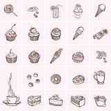 Cakes and dessert Stock Images