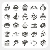 Cakes and dessert set. EPS10, Don't use transparency Stock Photos