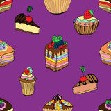 Cakes and desserts Royalty Free Stock Photo