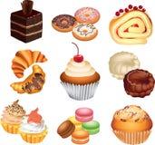 Cakes photo-realistic set stock illustration
