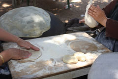 Cakes in the Druze oven Royalty Free Stock Photography