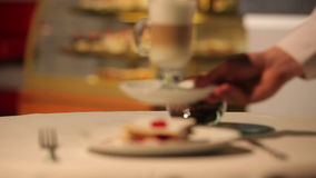 Cakes en capuccino stock video