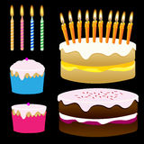 Cakes en Cupcakes Stock Afbeelding