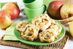 Cakes filled with apples and bananas Royalty Free Stock Photos