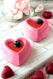 Cakes in the form of heart on the day of the holy Valentine Royalty Free Stock Photos